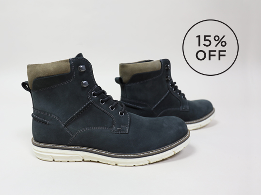 Image of Crevo mens navy suede boot 15% off