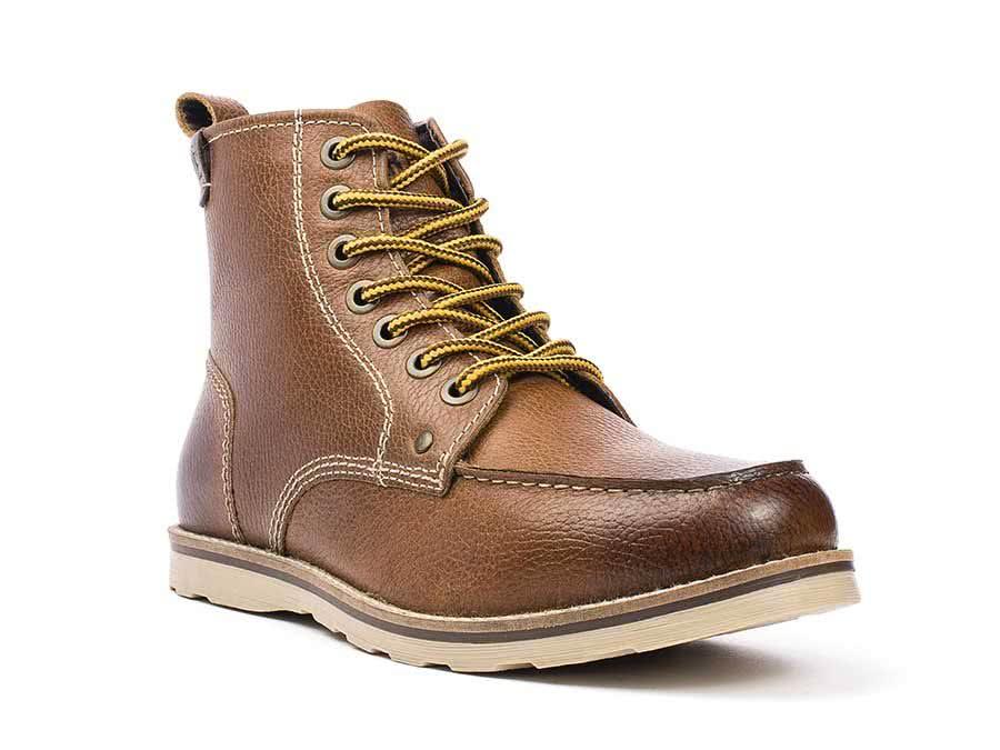 5dfd1fa99da6 Mens leather buck moc toe boot