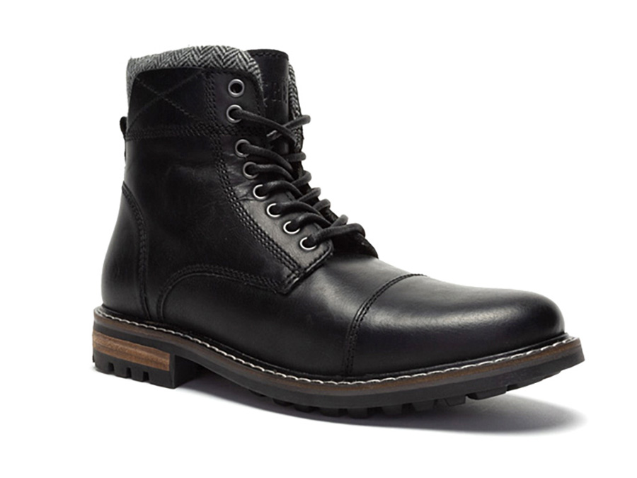 """Side Zipper 6/"""" Tall Mens Black Leather Motorcycle Boots Plain Toe"""