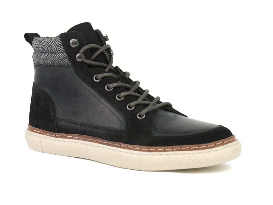 c493ecdbd Martel Leather High Top Sneaker | Men Casual Shoe | Crevo Men's