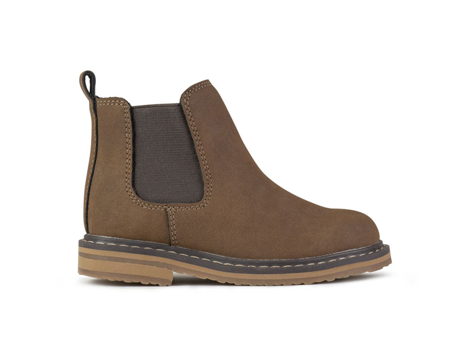 Kid/'s Crevo BLAKE Y Brown Pull-On Elastic Side Goring Chelsea Boot Shoes